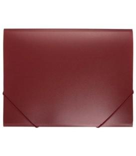 Папка пластиковая на резинке inФормат толщина пластика 0,5 мм, красная
