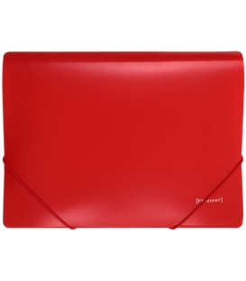 Папка пластиковая на резинке Format толщина пластика 0,5 мм, красная
