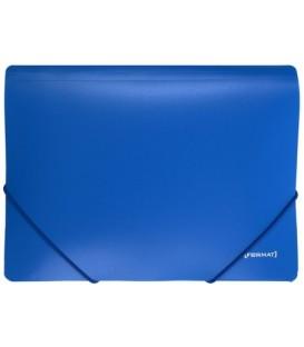 Папка пластиковая на резинке Format толщина пластика 0,5 мм, синяя