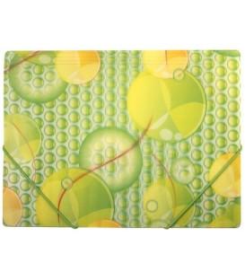 Папка пластиковая на резинке Fresh толщина пластика 0,4 мм