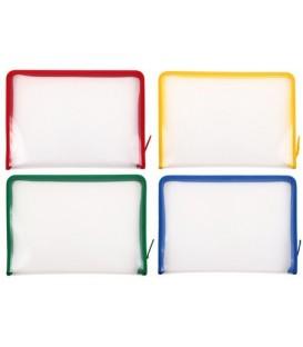 Папка пластиковая на молнии Berlingo толщина пластика 0,5 мм, прозрачная (цвет молнии - ассорти)