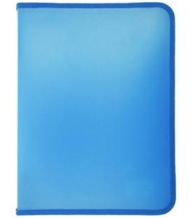 Папка пластиковая на молнии Ласпи толщина пластика 0,8 мм, голубая
