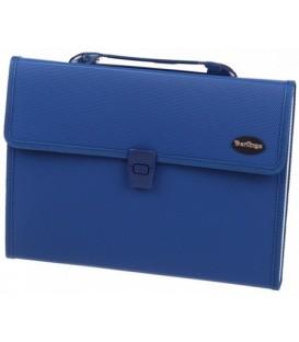 Портфель пластиковый объемный 13 отделений Berlingo 330*250*30 мм, синий