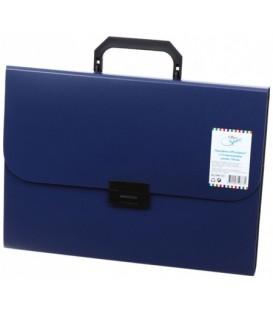 Портфель пластиковый 7 отделений Office Space 330*235 мм, синий