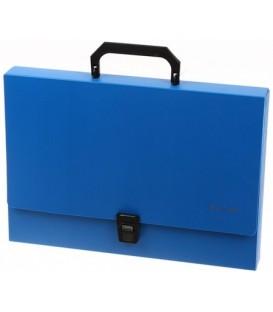 Портфель пластиковый Standart 370*250*40 мм, синий