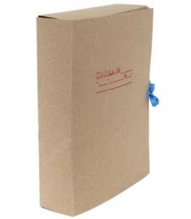 Папка картонная со скоросшивателем на завязках А4, ширина корешка 70 мм, плотность 620 г/м2, серая