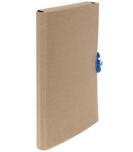 Папка картонная со скоросшивателем на завязках А4, ширина корешка 30 мм, плотность 428 г/м2, серая