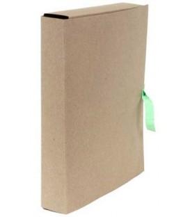 Папка картонная со скоросшивателем на завязках А4, ширина корешка 50 мм, плотность 428 г/м2, серая