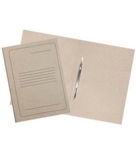 Папка картонная со скоросшивателем А4, плотность 300 г/м2, немелованная, металлический скоросшиватель