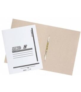 Папка картонная «Дело» со скоросшивателем А4, плотность 530 г/м2, белая, металлический скоросшиватель