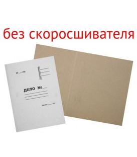 Обложка картонная «Дело» (без металлического скоросшивателя) А4, плотность 420 г/м2, немелованная, белая
