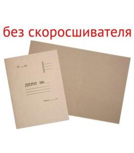 Обложка картонная «Дело» (без металлического скоросшивателя) А4, плотность 420 г/м2, немелованная, серая