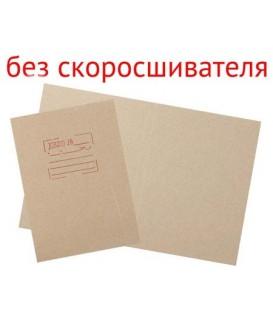 Обложка картонная «Дело» (без металлического скорсшивателя) А4, немелованная, плотность 428 г/м2, серая