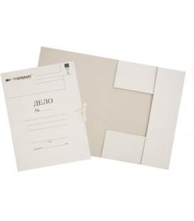Папка картонная на завязках «Дело» А4, плотность 320 г/м2, немелованная, белая