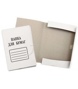 Папка картонная на завязках «Папка для бумаг» А4, плотность 280 г/м2, немелованная белая