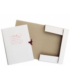 Папка картонная на завязках «Дело» А4, плотность 428 г/м2, ширина корешка 30 мм, белая