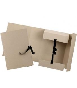 Папка картонная на завязках «Дело» А4, плотность 620 г/м2, ширина корешка 120 мм, серая