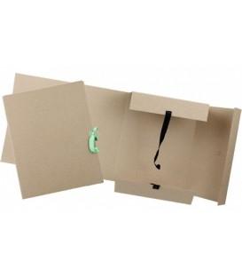 Папка картонная на завязках «Дело» А4, плотность 620 г/м2, ширина корешка 150 мм, серая