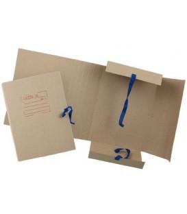 Папка картонная на завязках «Дело» А4, плотность 620 г/м2, ширина корешка от 30 до 120 мм, серая