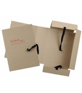 Папка картонная на завязках «Дело» А4, плотность 620 г/м2, ширина корешка 100 мм, серая