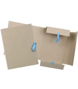 Папка картонная на завязках «Дело» А4, плотность 620 г/м2, ширина корешка 90 мм, серая