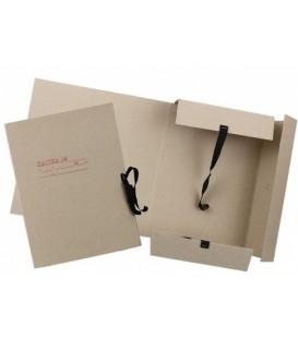 Папка картонная на завязках «Дело» А4, плотность 620 г/м2, ширина корешка 80 мм, серая