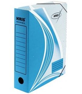 Папка архивная из картона на резинке Kris А4 (325*250 мм), корешок 70 мм, синяя