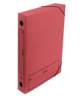 Папка архивная из картона на резинке Kris А4 (230*310 мм), корешок 45 мм, красная