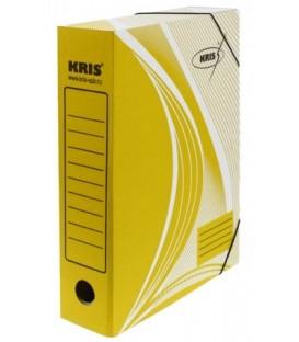 Папка архивная из картона на резинке Kris А4 (325*250 мм), корешок 70 мм, желтая