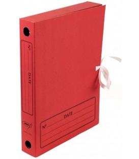 Папка архивная из картона на завязках Kris формат А4 (325*250 мм), корешок 45 мм, красная