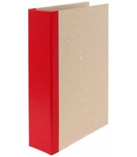 Папка архивная из картона со сшивателем (без шпагата) А4, ширина корешка 70 мм, плотность 1240 г/м2, красная