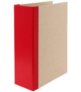 Папка архивная из картона со сшивателем (без шпагата) А4, ширина корешка 100 мм, плотность 1240 г/м2, красная