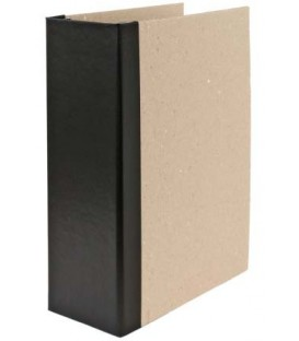 Папка архивная из картона со сшивателем (без шпагата) А4, ширина корешка 100 мм, плотность 1240 г/м2, черная