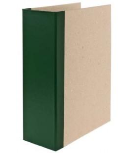 Папка архивная из картона со сшивателем (без шпагата) А4, ширина корешка 100 мм, плотность 1240 г/м2, зеленая