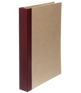 Папка архивная из картона со сшивателем (без шпагата) А4, ширина корешка 40 мм, плотность 1240 г/м2, бордо