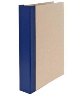 Папка архивная из картона со сшивателем (со шпагатом) А4, ширина корешка 50 мм, плотность 1240 г/м2, синяя
