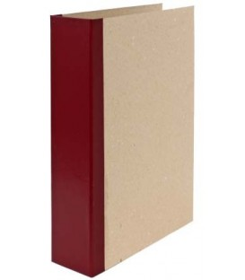 Папка архивная из картона со сшивателем (со шпагатом) А4, ширина корешка 70 мм, плотность 1240 г/м2, бордо
