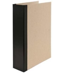 Папка архивная из картона со сшивателем (со шпагатом) А4, ширина корешка 70 мм, плотность 1240 г/м2, черная