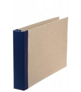 Папка архивная из картона со сшивателем горизонтальная (без шпагата) А4, ширина корешка 40 мм, плотность 1240 г/м2, синяя