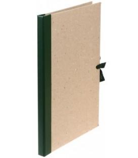 Папка архивная из картона со сшивателем (без шпагата) на завязках А4, ширина корешка 15 мм, плотность 1240 г/м2, зеленая
