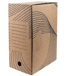 Короб архивный из гофрокартона с флексопечатью корешок 150 мм, 335*150*245 мм, бурый