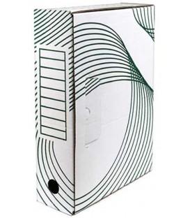 Короб архивный из гофрокартона с флексопечатью корешок 80 мм, 330*80*240 мм, белый