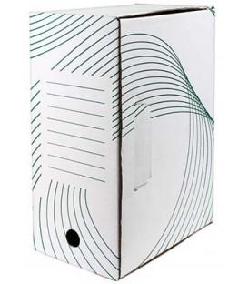 Короб архивный из гофрокартона с флексопечатью корешок 150 мм, 335*150*245 мм, белый