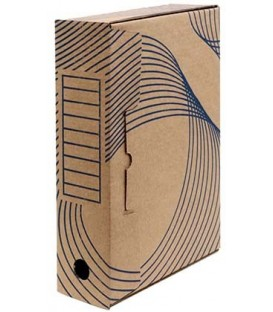 Короб архивный из гофрокартона с флексопечатью корешок 80 мм, 322*80*240 мм, бурый