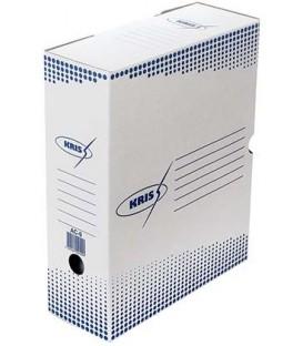 Короб архивный из гофрокартона Kris корешок 100 мм, 325*260*100 мм, белый