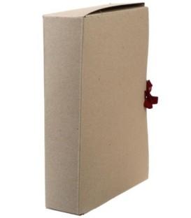 Короб архивный из картона на завязках «Деловые ресурсы» корешок 70 мм, серый