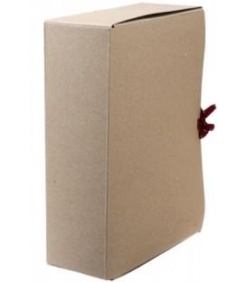Короб архивный из картона на завязках «Деловые ресурсы» корешок 100 мм, серый