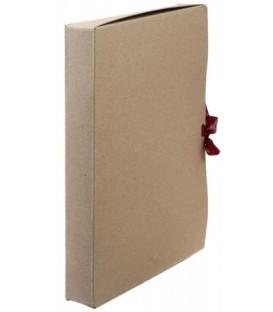Короб архивный из картона на завязках «Деловые ресурсы» корешок 40 мм, серый