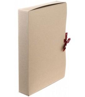 Короб архивный из картона на завязках «Деловые ресурсы» корешок 50 мм, серый