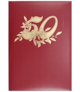 Папка адресная «50 лет», красная